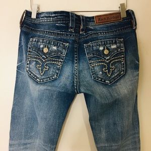 Rock Revival Alivia Easy Straight Jeans. Size 29